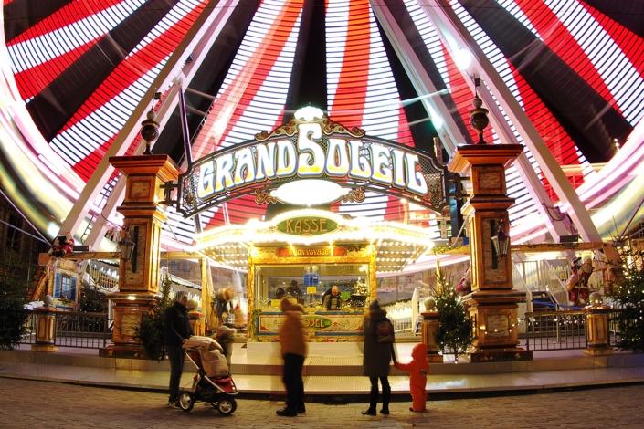 Travel Photography Belgium - Fair wheel at Christmas market